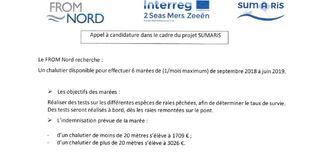 Projet SUMARiS : Appel à candidature - Chalutier